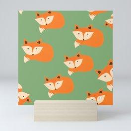 Foxy pattern Mini Art Print