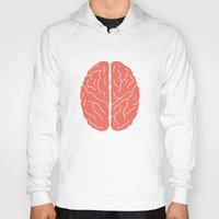 brain Hoodies featuring Brain by Yellow Chair Design
