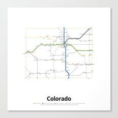 Highways of the USA – Colorado Canvas Print