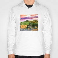lord of the rings Hoodies featuring Lord of the Rings Hobbiton by KS Art & Design
