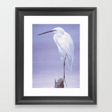 Purple Crane Framed Art Print