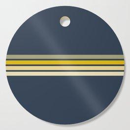 Racing Retro Stripes Cutting Board