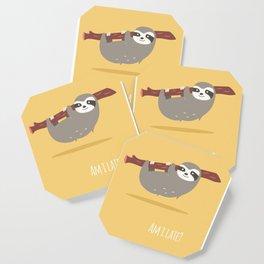 Sloth card - Am I late? Coaster