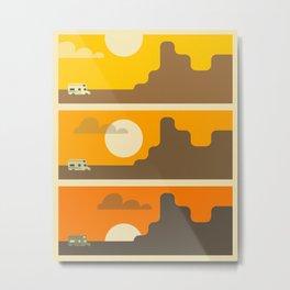 RV SUNSET Metal Print