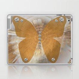 Golden Butterfly with Diamonds Laptop & iPad Skin