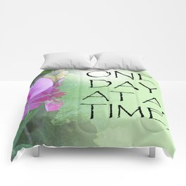 One Day at a Time Sweet Peas Comforters