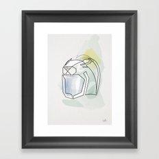 One line Ulysses 31 helmet Framed Art Print