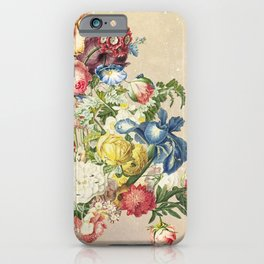 Floral tribute to Louis McNeice (Light) iPhone Case