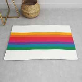 Retro Bright Rainbow - Straight Rug