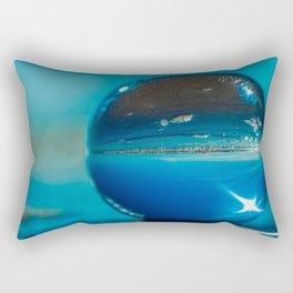 Blue Orb Rectangular Pillow