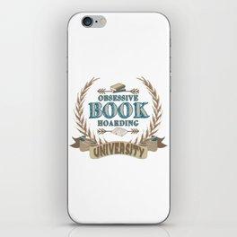 Obsessive Book Hoarding University iPhone Skin