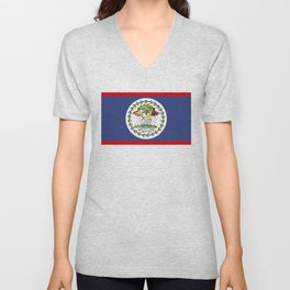 Belize county flag Unisex V-Neck