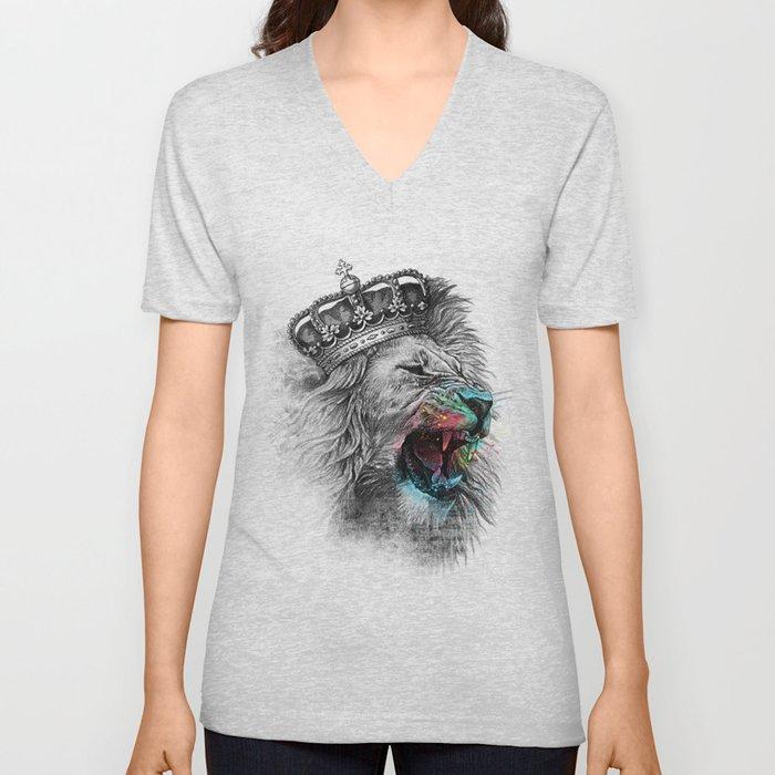King Lion Unisex V-Neck