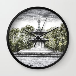 The Pagoda in the snow Wall Clock