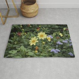 A flower bed Rug