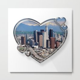 I Love Los Angeles Metal Print