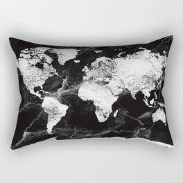 world map marble 4 Rectangular Pillow