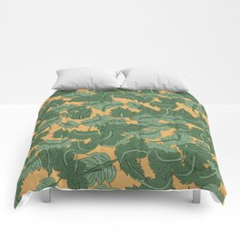 Foliage Yellow Comforters