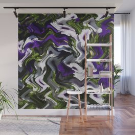 Petunias in Abstract Wall Mural
