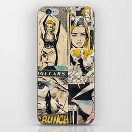 Italian Comics Vintage Pop art Collage iPhone Skin