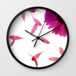 purple petaled flower  Wall Clock