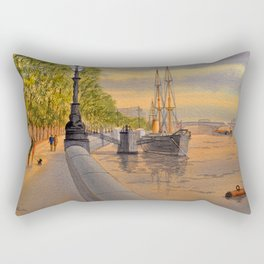 The Discovery On The River Thames London Rectangular Pillow