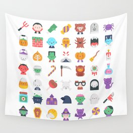 CUTE HALLOWEEN COSTUME FALL PATTERN Wall Tapestry