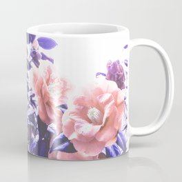 Wild Roses - Ultra Violet and Coral #decor #floral #buyart Coffee Mug