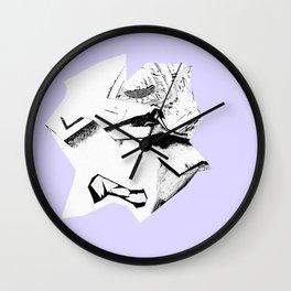 Glitch Scrunch Purple Wall Clock