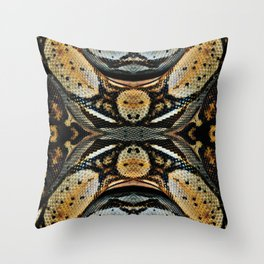 Red Tailed Boa Throw Pillow