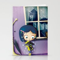 coraline Stationery Cards featuring It's Coraline not Caroline. by Irene Dose