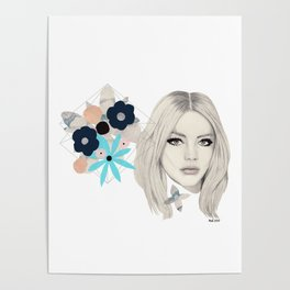 Floral/Geometric Poster