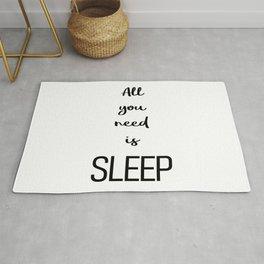 All you need is sleep Rug
