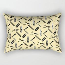 Barber Shop Pattern Rectangular Pillow