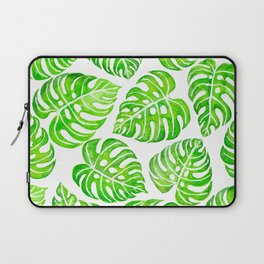 Monstera leaves watercolor Laptop Sleeve