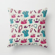 Lady pattern Throw Pillow