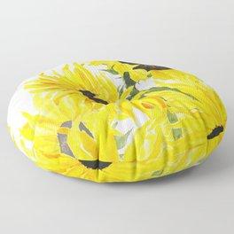 sunflower watercolor 2017 Floor Pillow