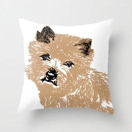 Cairn Terrier Dog Throw Pillow