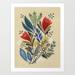 folkflower II Art Print