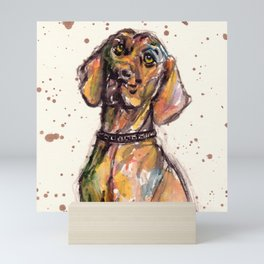 Hungarian Vizsla Dog Closeup Mini Art Print