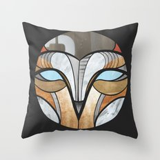owl face Throw Pillow