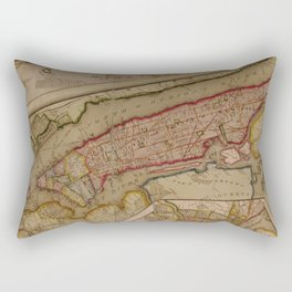 Vintage Map of New York City (1821) Rectangular Pillow