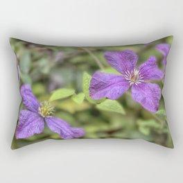 purple Clematis flower Rectangular Pillow
