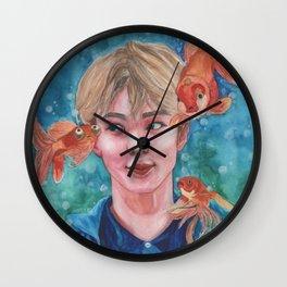 Just Keep Swimming (Nautical Dreams of Innocence) Wall Clock