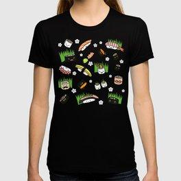 Kawaii Sushi Friends   Cute Assortment of Sushi Rolls, Sashimi, Wasabi, Ginger T-shirt