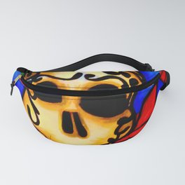 Skull and red roses Fanny Pack