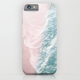 Soft Teal Blush Ocean Dream Waves #1 #water #decor #art #society6 iPhone Case