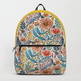 Vivid Colorful Art Nouveau Floral Backpack