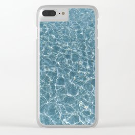 Sunlight reflections in calm water Clear iPhone Case