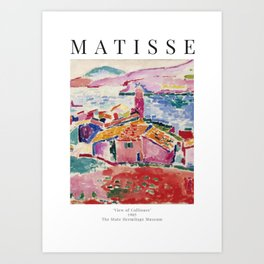 View of Collioure - Henri Matisse - Exhibition Poster Art Print